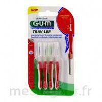 Gum Trav - Ler, 0,8 Mm, Manche Rouge , Blister 4 à ERSTEIN