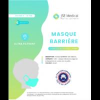 Masque Barrière Non Médical Enfant (4/10 Ans) Blancs B/6 à ERSTEIN