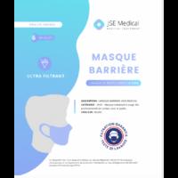 Masque Barrière Non Médical Adulte Blancs B/6 à ERSTEIN