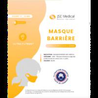 Masque Barrière Non Médical Enfant (11/16 Ans) Blancs B/6 à ERSTEIN